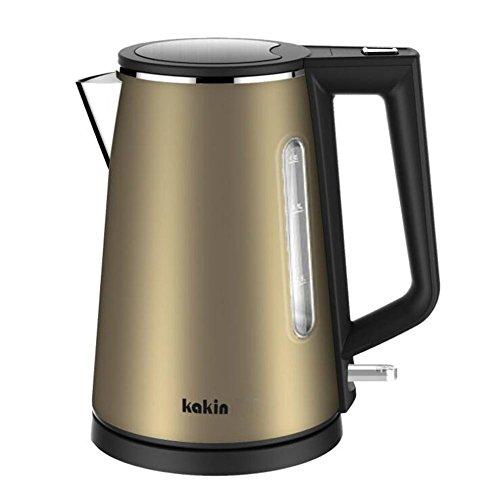 Elektrischer Wasserkocher Automatisches Abschalten 1000-Watt, 1,0 Liters Edelstahl Wasserkocher Cool-Touch-Griff , Gold