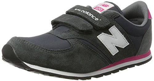 New Balance Unisex-Kinder KE420GEY  M Hook and Loop Sneakers Grau (GEYGREY/PINK)
