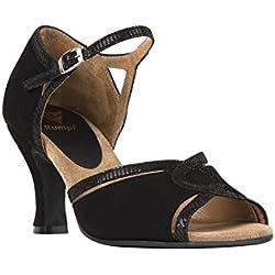RUMPF Damen Tanzschuhe Wildleder Tanzen Schuhe Dance Sneaker Pumps schwarz 39