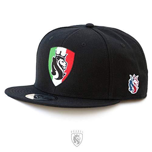 OGABEL OG ABEL Men's Mexico Shield Snapback Hat Black