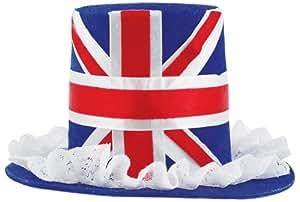 Amscan PPP Mini chapeau haut-de-forme Union Jack