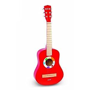 Janod - 4507623 - Grande guitare - Confetti - 75 cm en rouge