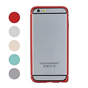 HP- ROCK Ultra fine en alliage d'aluminium avec cadre rigide anti-chocs pour iPhone 6 (Couleurs assorties), Argent