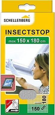 Schellenberg 50328 Moustiquaire fenêtre de toit avec fermeture éclaire recoupable avec ruban adhésif et cutter