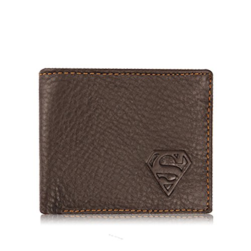 ShopINess - Cartera de piel Superman marrón