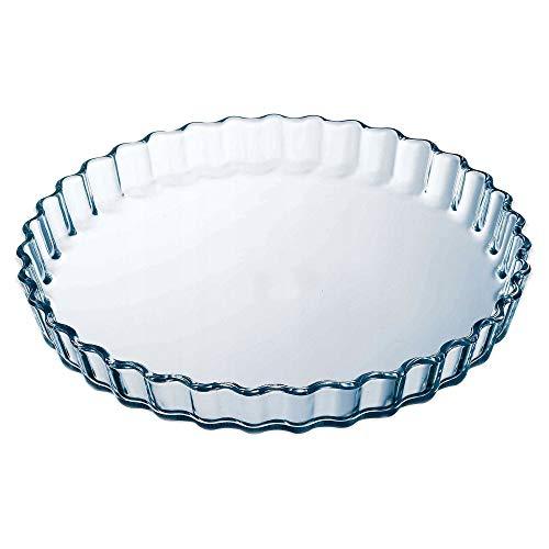 Pyrex Tarteform Backform Quicheform Obstkuchenform aus Hochwertiges Glas 26, 27, 30 cm cm NEU! (27 cm - 3,5 cm hoch)