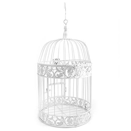 Garden Decor Vintage Style Dekorative Vogelkäfig Hochzeit Tisch Mittelpunkt Birdcage 19* 35cm, mit rundem Haken auf Top
