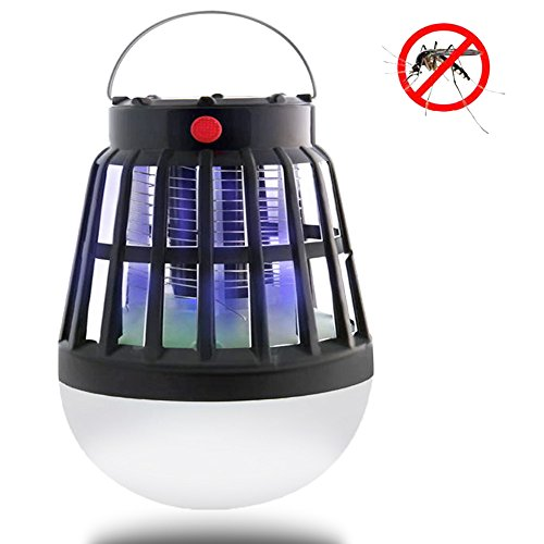 Qicuang Mosquito USB/Solar Carga Anti Insectos/Zapper Exterior LED Camping Light
