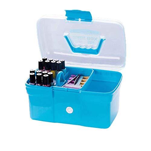 Diamoen Handheld-Desktop Storage Box Kunststoff Schere Makeup Organizer Schmuck Nagellack-Feder-Behälter-Maniküre-Werkzeug-Kasten -