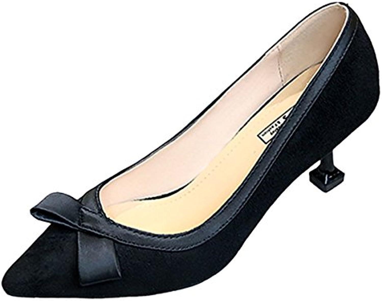 DIMAOL Damenschuhe Cashmere Feder Komfort Heels Stiletto Heel Schuhe für Casual Schwarz Beige Rosa