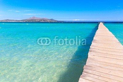 """Leinwand-Bild 120 x 80 cm: \""""Majorca Platja de Muro beach Alcudia bay Mallorca\"""", Bild auf Leinwand"""