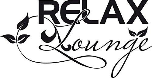 GRAZDesign Wand-Dekoration Relax Lounge - Badezimmer Aufkleber Blumen Ranke - Wandtattoo Bad WC Schild / 97x50cm / 650217_50_070