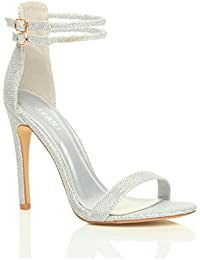 Amazon.co.uk: Silver - Sandals / Women's Shoes: Shoes & Bags