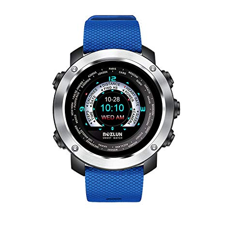 Smart Watch für iPhone Android Fitness Tracker mit Pulsmesser Schrittzähler Schlaf Track UI bunten Bildschirm und Dual Face Display