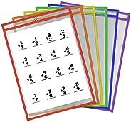 6 قطع من الجيوب الجافة من NUOBESTY أغطية شفافة قابلة لإعادة الاستخدام أغطية شفافة وأكمام قابلة لإعادة الاستخدا