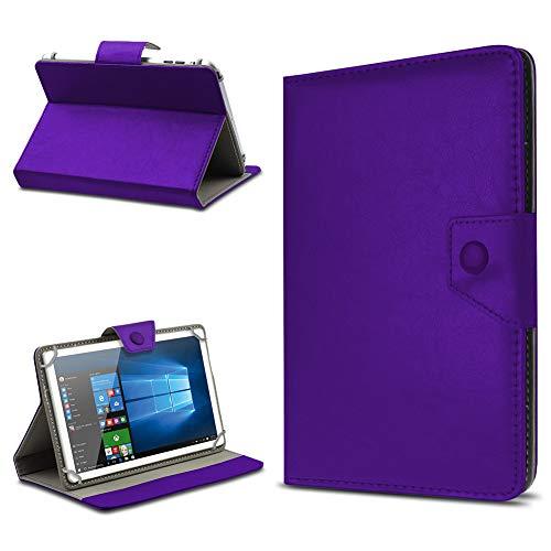 UC-Express Tasche Schutz Hülle für TrekStor SurfTab xintron i 10.1 Tablet Case Stand Cover Farbauswahl, Farben:Lila, Tablet Modell für:BLAUPUNKT Endeavour 1000 WS