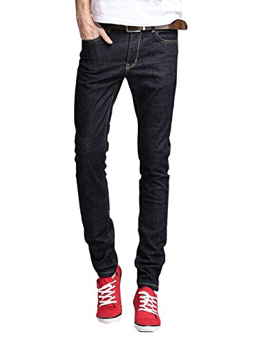menschwear-nuovo-da-uomo-denim-jeans-dark-wash-slim-fit-86-33blu