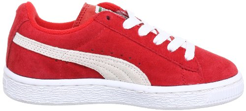 Puma Suede Kids, Baskets mode mixte enfant Red - Rot (high risk red-white 03)