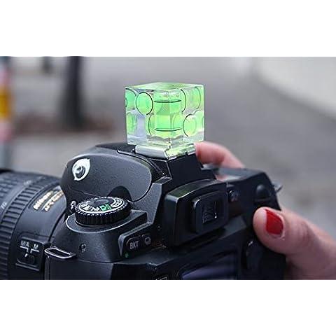 MP power ® 3 Axis triple nivel de burbuja hot shoe para cámaras digitales y filmación Canon Nikon Sony Alpha A7 A7II A7R II Olympus Panasonic Pentax Fujifilm Leica