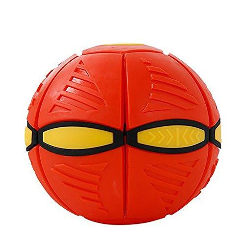 owikar Kinder Flying Discs Spielzeug Verformung UFO Fußball Toys Neuheit Magic Fliegende Untertasse Ball Kinder Outdoor Smart Bouncing flachen Überwurf Ball Toy Spiel für Kinder 'S Christmas Gifts (Toy Story Figur Einhorn)