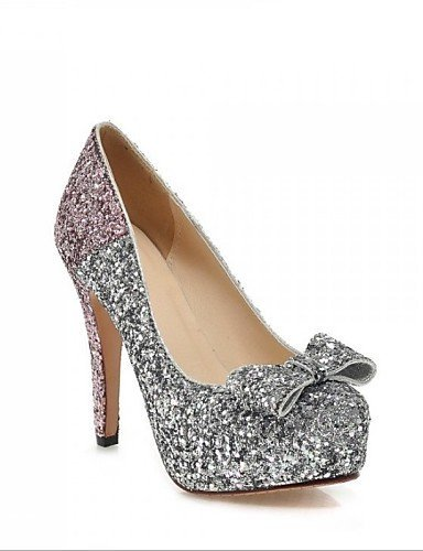 ShangYi Chaussures Femme - Mariage / Décontracté / Soirée & Evénement - Bleu / Rose / Or - Talon Aiguille - Talons - Talons - Similicuir golden
