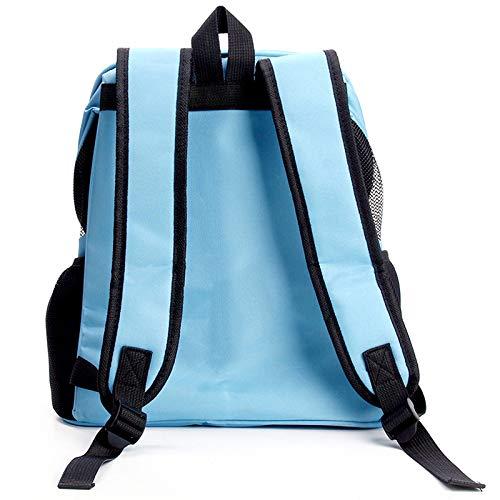 GJJ Haustierrucksack, tragbarer Koffer für Haustiere, Hundetasche, Katzentasche, Blauer Mitnehmrucksack, geeignet für Reisen im Freien zu Fuß Null/Blau/Als Zeigen