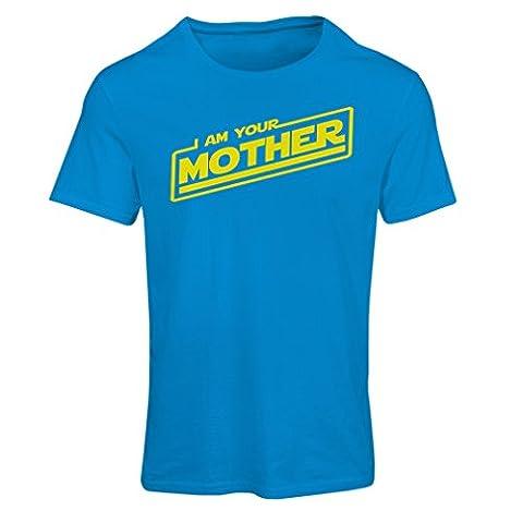 T-shirt femme Je suis ta mère (Medium Bleu Multicolore)
