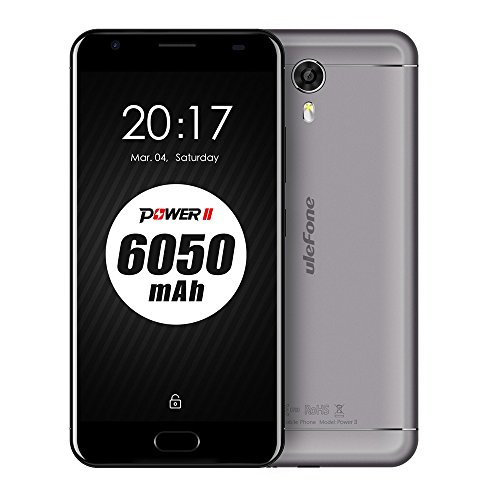 UleFone Power 2 Android 7.0 Smartphone 6050mAh Akku 4G FDD-LTE ,Ohne Vertrag 5,5 Zoll FHD 4GB RAM+64GB ROM Octa-Core 16.0MP + 13.0MP Kameras Quick Charge Front-Fingerabdruck Dual Sim