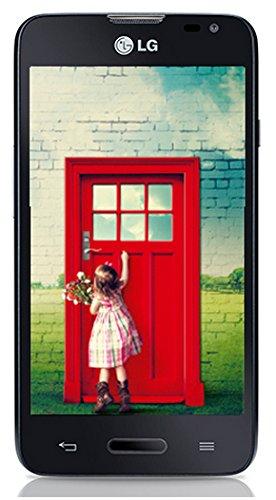 LG L65 Smartphone (10,9 cm (4,3 Zoll) True IPS-Display, 1,2-GHz-Dual-Core-Prozessor, 5 Megapixel-Kamera, Android 4.4) schwarz