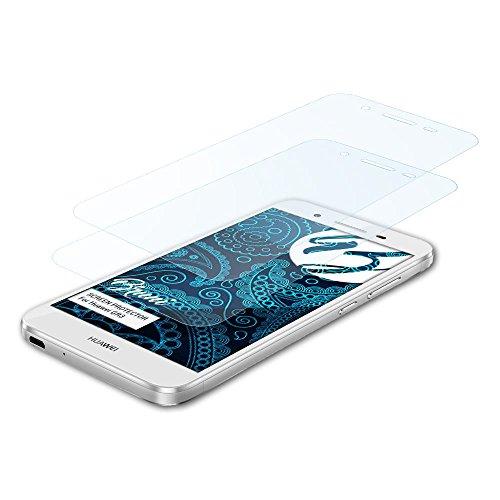 Bruni Schutzfolie für Huawei GR3 Folie, glasklare Bildschirmschutzfolie (2X)