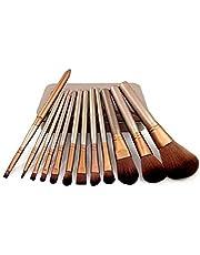 CETC Makeup Brush Set with Tin Storage Box (Golden, 12 Pieces)