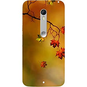 Casotec Colorful Leaves Print Design Design Hard Back Case Cover For Motorola Moto X Style