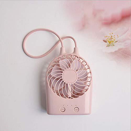 BAIYI Mini-USB-Lüfter Lanyard-Lüfter Tragbarer Desktop-Lüfter Geräuschloser, wiederaufladbarer Lüfter Student Office-Lüfter,Pink
