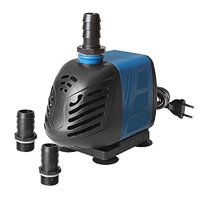TSSS Pompe à eau fontaine pompe submersible 2500L/H 45W pour bassin de jardin poisson étang Fontaine Aquarium