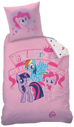 CTI 040725 My Little Pony For Ever, Copripiumino 135x200 cm e Federa 80x80 cm, in Linone, colore: Rosa