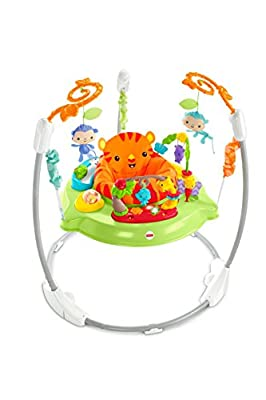 Fisher-Price CHM91 Roaring Rainforest Jumperoo, New-Born Baby Activity Centre with Music and Lights, Suitable from 11.3 kg/25 lbs