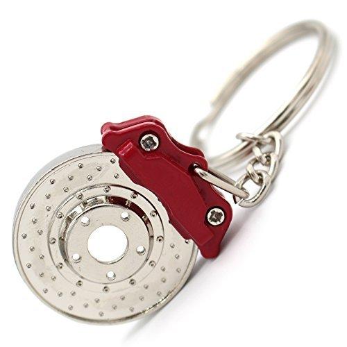 Bremsscheibe Sport Tuner Schlüsselanhänger Chrom Bremse Bremsklötze Bremssattel Schlüssel KFZ PKW mit rotierender Bremsscheibe -