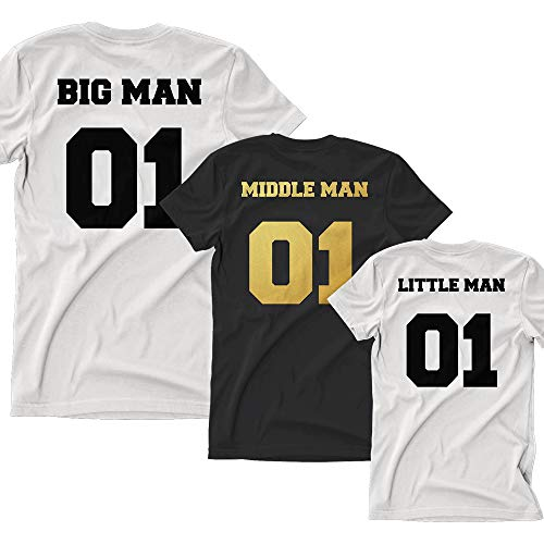 efb8890f Big Man Little Man Matching Tops Fathers Day Daddy Dad Son Baby T Shirt Tee