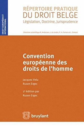 Convention européenne des droits de l'homme par Rusen Ergec, Jacques Velu