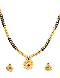 Womens Trendz Handmade Jewellery Combo Pack Of Two Traditional, Ethnic And Antique Gold Plated Necklace And Earrings...