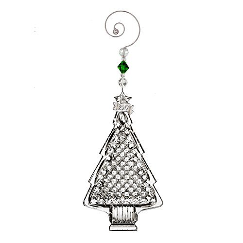 Waterford 2017 Christmas Tree Crystal Hanging Ornament Holiday Decoration New