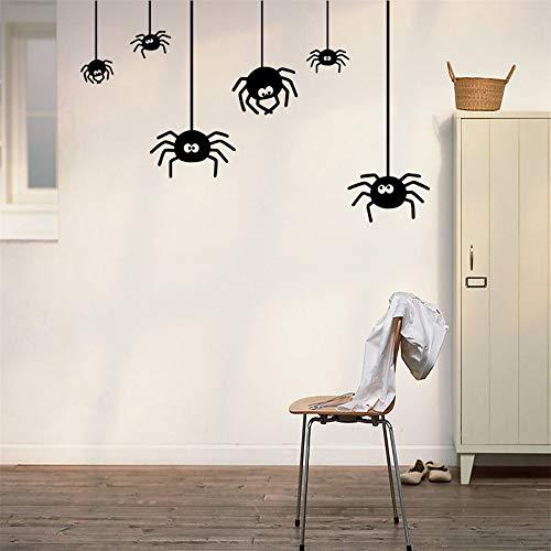 wandaufkleber wandtattoos Ronamick Halloween Spinne Hintergrund Wandaufkleber Fenster Dekoration Abziehbild Dekor Wandtattoo Wandaufkleber Sticker Wanddeko (Black)
