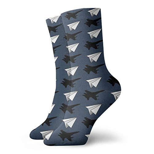Calcetines de Vestir para Hombre y Mujer, de Papel aeronáutico, para Ingenieros aeronáuticos, para Yoga, 30 cm