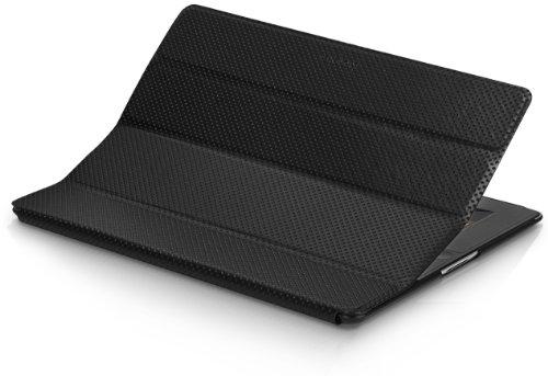 XtremeMac Microfolio Faux Leather Schutzhülle für Apple iPad 3/4 (Komplettschutz) aus Kunstleder schwarz Xtrememac Ipad