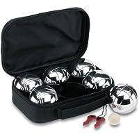 Set de 6 bolas metálicas bola de madera y hilo de medición rojo en estuche negro