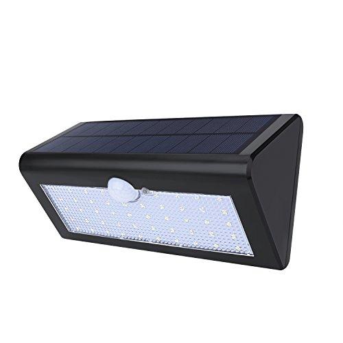 Websun Solarbetriebene Bewegungssensor Außenleuchte 48 LED Außenwandleuchten 3 Intelligente Modi Wireless Wasserdichte Solar Security Beleuchtung Motion Sensor Lampe für Garten Patio Yard Deck Pathway(1 pcs , Schwarz)