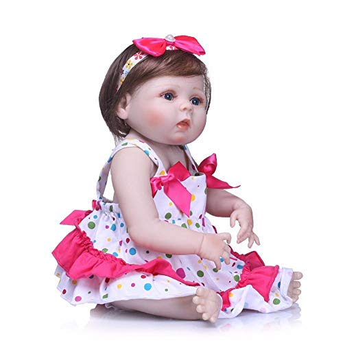 55 cm Bebé Reborn Moda Bebé Simulación Muñeca Lavable Completo Silicona Niños Regalo de...