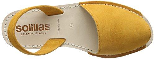 Solillas Damen Azafran Slingback Sandalen Gelb (Yellow)