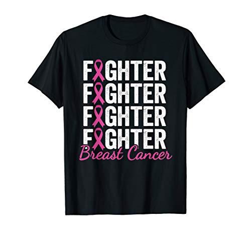 Fighter Pink Ribbon Shirt Breast Cancer Awareness T-Shirt -