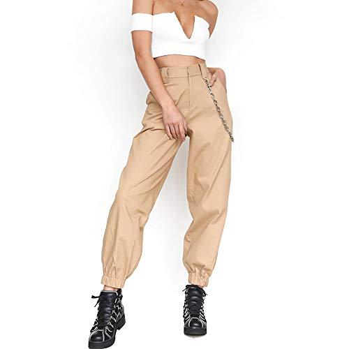 GUANLIAN Pantalones Casuales con Cadena